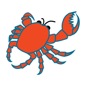 The Crab Logo of the Friends of Birch Bay Library